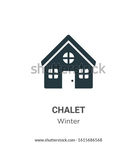 chalet glyph icon vector on