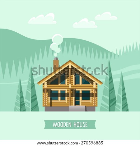 chalet  wooden house  eco house