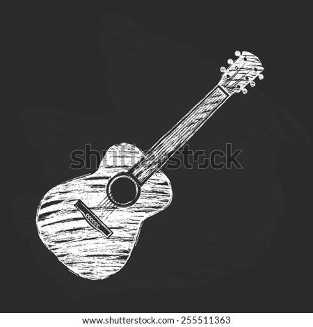 chalk acoustic guitar