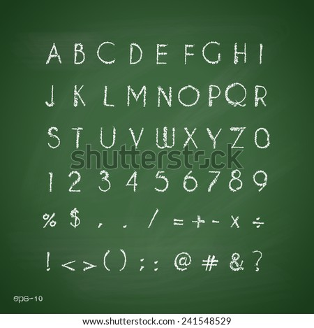 Chalk alphabet Retro type font.letters Typography for your design Vector illustration EPS10