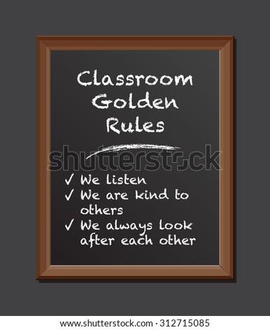 chalk board golden rules
