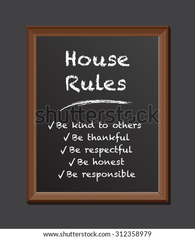 chalk board house rules