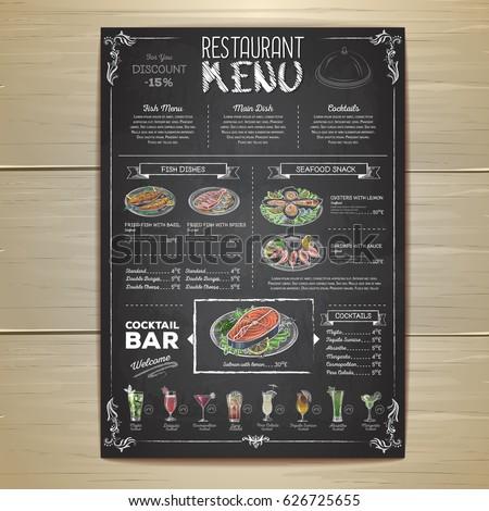 chalk drawing restaurant menu...