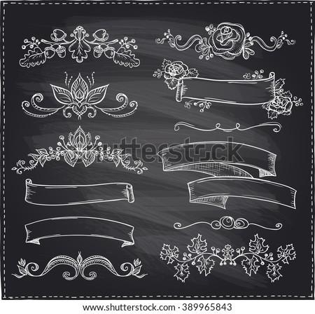 chalk hand drawn graphic line