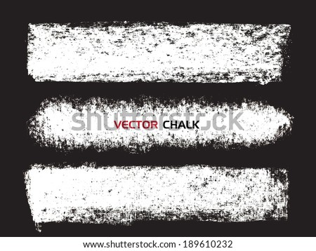 Chalk texture stripes. Vector design elements.