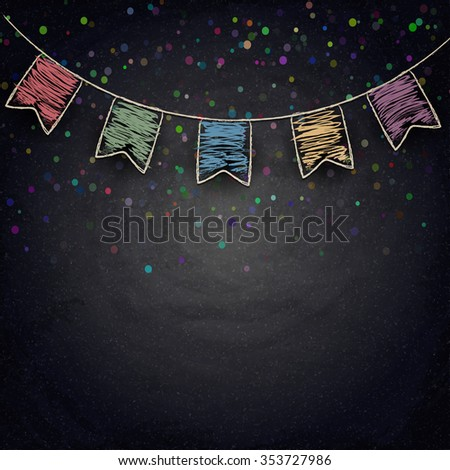 chalkboard background with