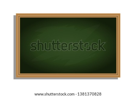 Chalkboard, chalkboard isolated on white. Vector illustration, vector.
