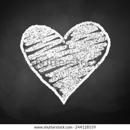 chalkboard drawing of heart