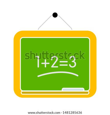 chalkboard icon. flat illustration of chalkboard vector icon. chalkboard sign symbol