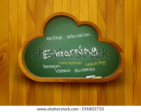 chalkboard in a shape of a