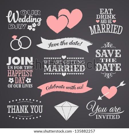 chalkboard style wedding design