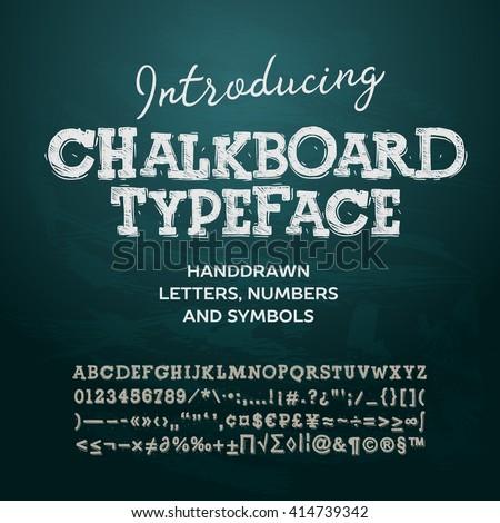 chalkboard typeface  letters