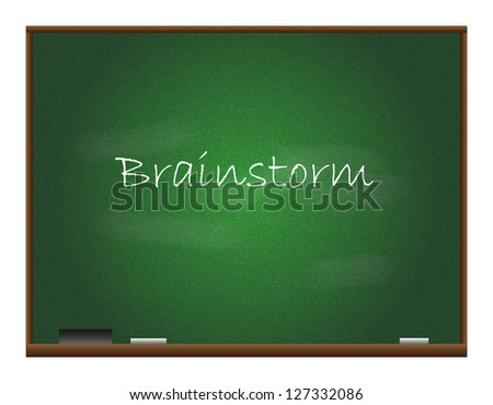 Chalkboard Vector, Brainstorm Text