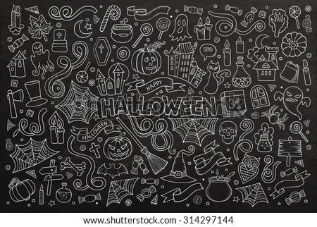 chalkboard vector hand drawn