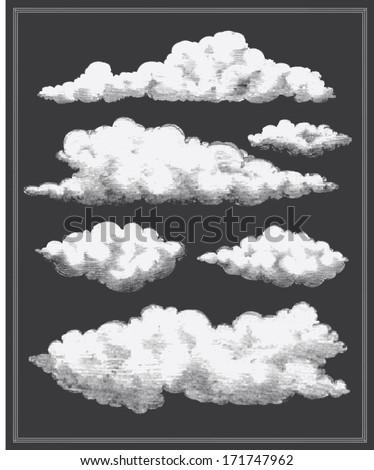 chalkboard vintage clouds...