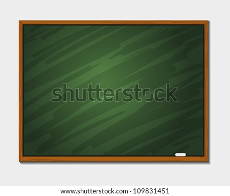 Chalkboard with frame, isolated.