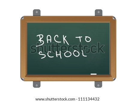 chalkboard with text back to school