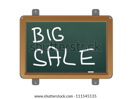 chalkboard with text big sale