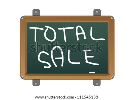 chalkboard with text total sale