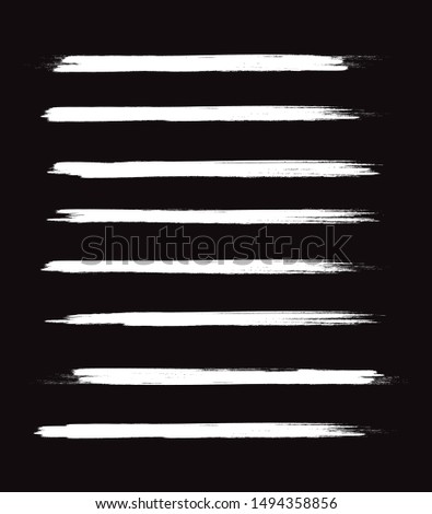 Chalked lines hand drawn. Paint brush stroke. Chalk handmade vector. Set of distressed, doodle, pen and pencil lines. Hand drawn scribble. White chalk border, ink and grunge brush stroke lines, vector