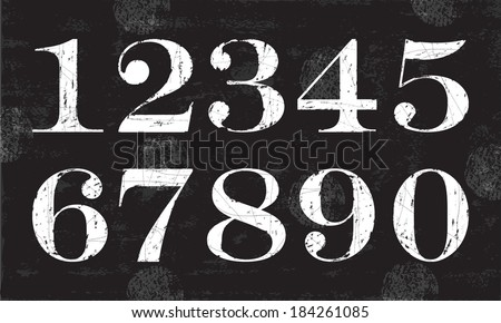chalky numbers  vector