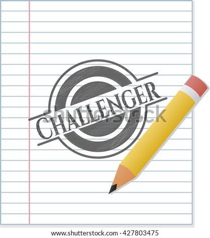 Challenger pencil strokes emblem