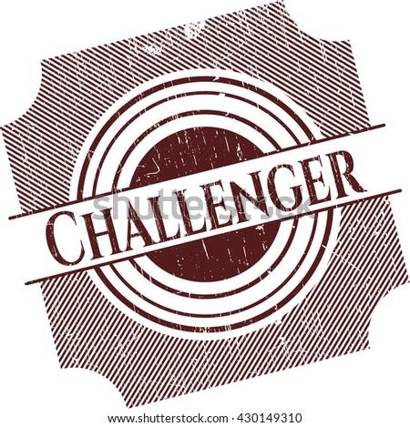 Challenger rubber grunge texture seal