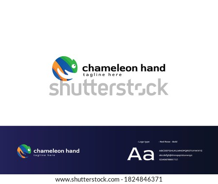 chameleon colorful logo design