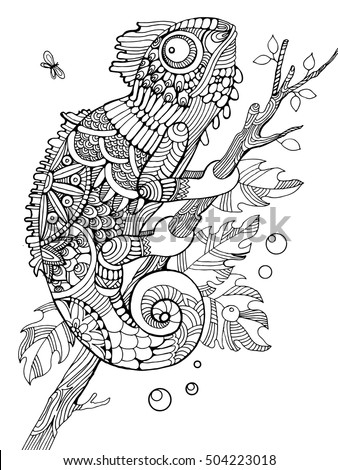 chameleon coloring book for