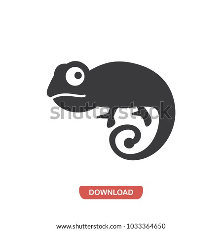 Chameleon icon. animal symbol. Lizard pictogram, flat vector sign isolated on white background. Simple vector illustration for graphic and web design.