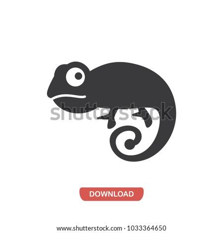 chameleon icon animal symbol