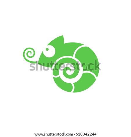 chameleon icon vector