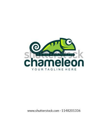 chameleon logo design