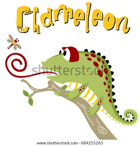 chameleon try to catch a