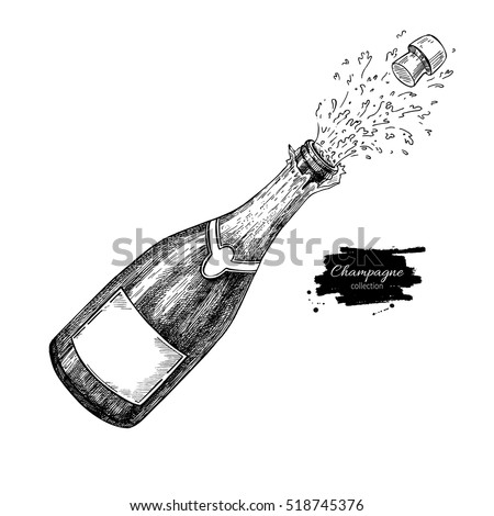 champagne bottle explosion....