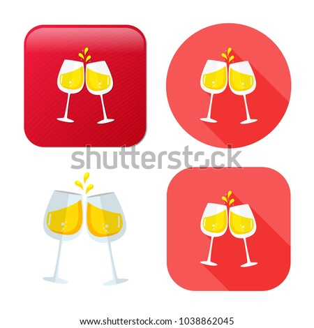 champagne bottle icon - drink alcohol symbol - holiday celebration icon