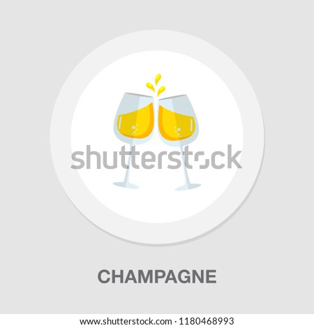 champagne bottle icon - drink alcohol symbol - holiday celebration icon