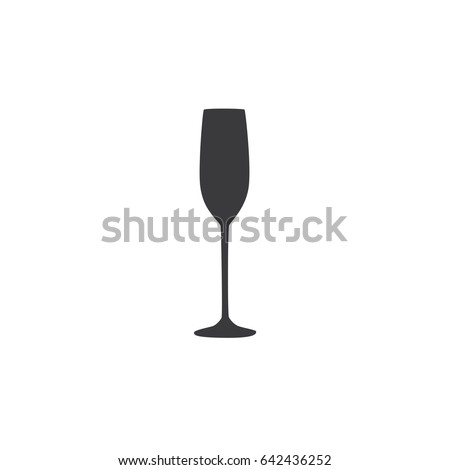 Champagne glass icon, vector illustration design. Drinks collection.