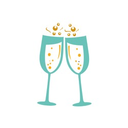 champagne glass icon-wine Symbol-bottle illustration-alcohol Vector-celebration Isolated-snack Sign-wineglass Icon-beverage Isolated