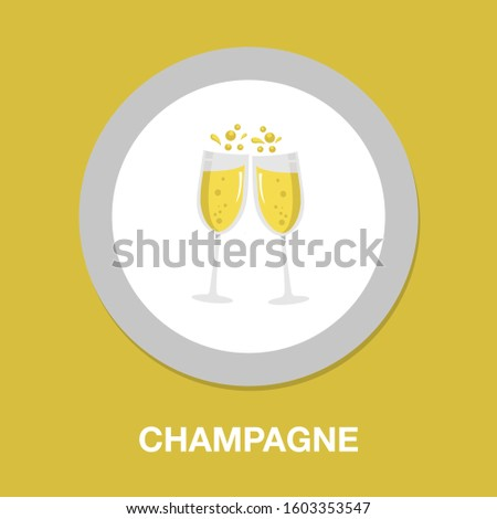 champagne icon. flat illustration of champagne - vector icon. champagne sign symbol