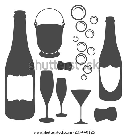 champagne icons