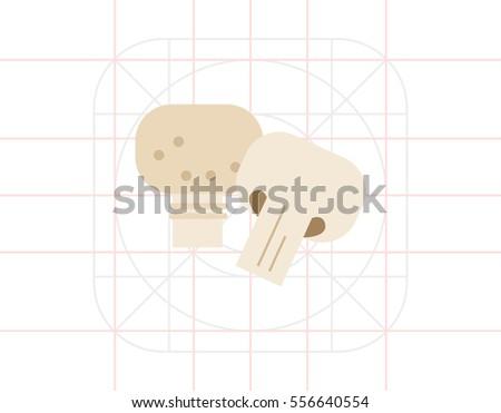 champignon and champignon half