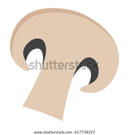 Champignon flat icon, vegetable and mushroom, vector graphics, a colorful solid pattern on a white background, eps 10.