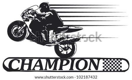 champion banner with super bike