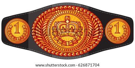 champion  boxing  belt vector