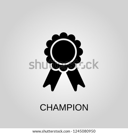 Champion icon. Champion symbol. Flat design. Stock - Vector illustration