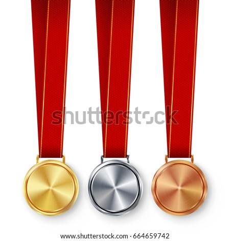 champion medals blank set