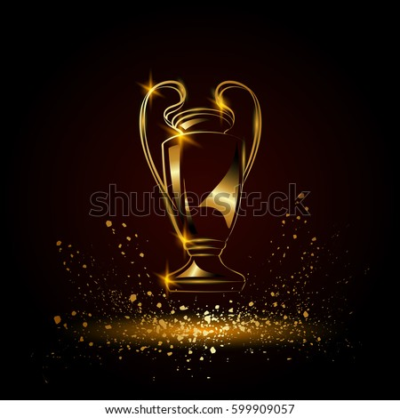 champions cup golden soccer