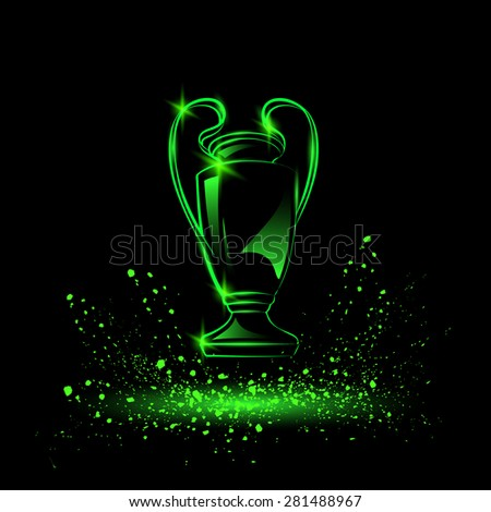 champions cup neon style