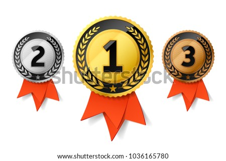 First Place Ribbon Badge Illustration - Download Free Vector Art